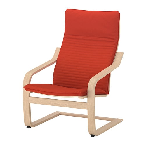 POÄNG Armchair - Knisa red/orange - IKEA