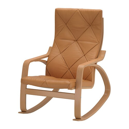Ikea Trofast Extendable Bed ~ POÄNG Rocking chair Highly durable full grain leather which is soft