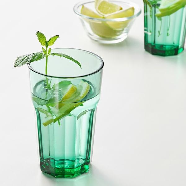POKAL Glass, green, 35 cl