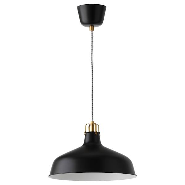 RANARP Pendant lamp, black, 38 cm
