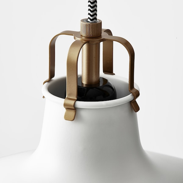 RANARP Pendant lamp, off-white, 38 cm