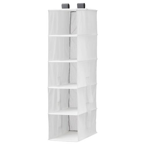 RASSLA storage with 5 compartments white 25 cm 40 cm 98 cm