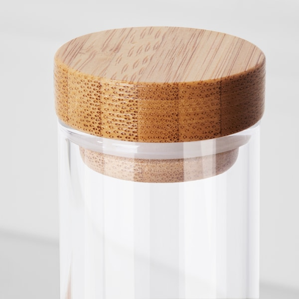 RIMFORSA container tube-shaped glass 21.5 cm 3.5 cm 4 pieces