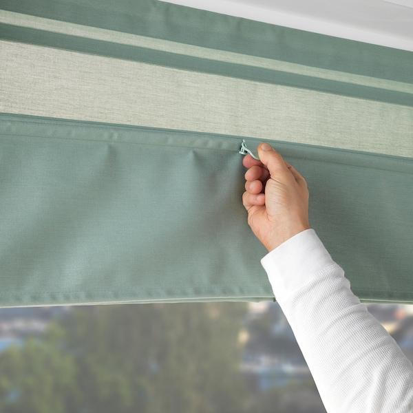 RINGBLOMMA Roman blind, green, 120x160 cm