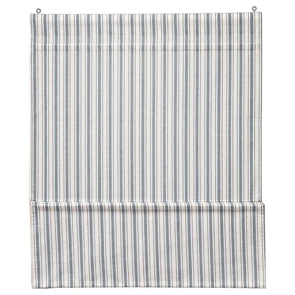 RINGBLOMMA ستارة, أبيض/أزرق, 120x160 سم