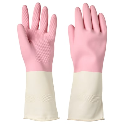 RINNIG قفازات للتنظيف, زهري, S