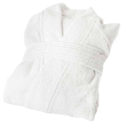 ROCKÅN bath robe white 104 cm 380 g/m²