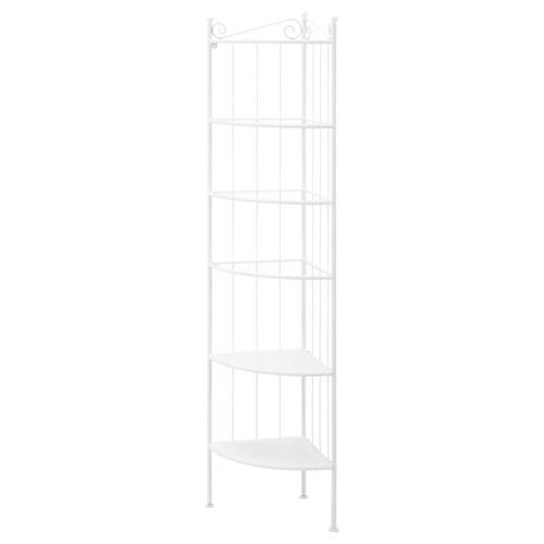 RÖNNSKÄR corner shelf unit white 37 cm 37 cm 176 cm 3 kg