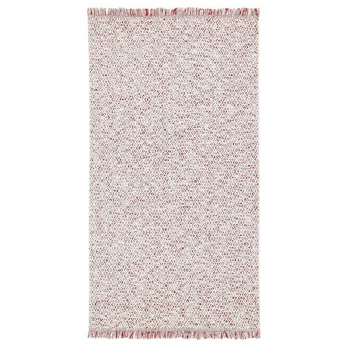 RÖRKÄR rug, flatwoven red/natural colour 150 cm 80 cm 1.20 m² 1475 g/m²
