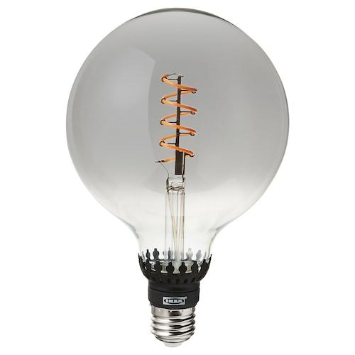 ROLLSBO LED bulb E27 200 lumen dimmable/globe grey clear glass 1800 K 200 lm 125 mm 5.5 W 1 pieces