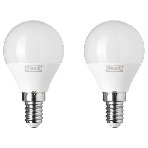 RYET LED bulb E14 200 lumen globe opal white 200 lm 2 pieces