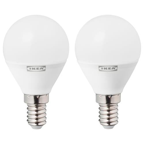 RYET LED bulb E14 470 lumen globe opal white 2700 K 470 lm 45 mm 4.5 W 2 pieces