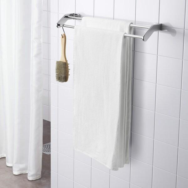 SALVIKEN Bath towel, white, 70x140 cm