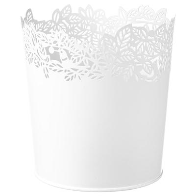 SAMVERKA Plant pot, white, 12 cm