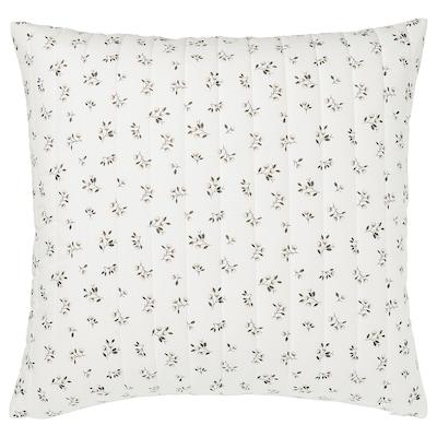 SANDLUPIN Cushion cover, white/grey, 65x65 cm
