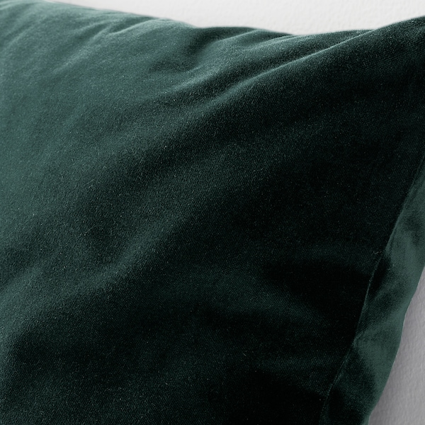 SANELA Cushion cover, dark green, 50x50 cm