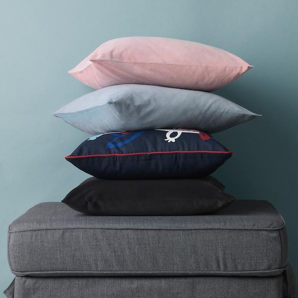 SANELA Cushion cover, dark grey, 50x50 cm