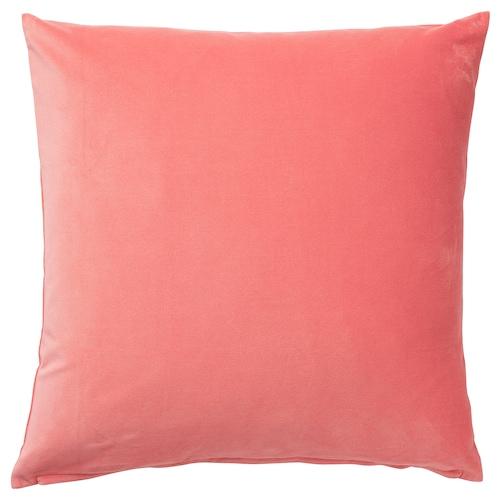 SANELA cushion cover light brown-red 50 cm 50 cm