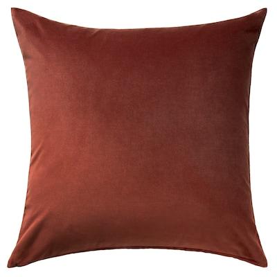 SANELA Cushion cover, red/brown, 65x65 cm