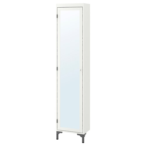 SILVERÅN high cabinet with mirror door white 40 cm 25 cm 183.5 cm