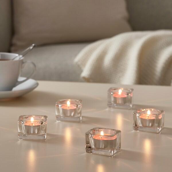 SINNLIG شمع صغير معطّر, كرز/وردي برّاق