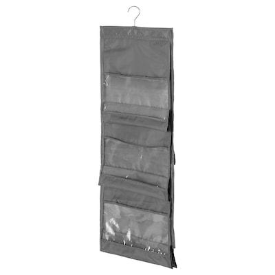 SKUBB Hanging handbag organiser, dark grey, 39x93 cm
