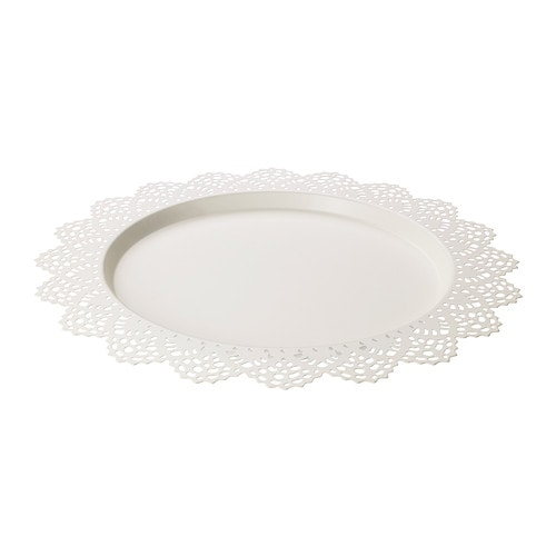 SKURAR Candle dish   The candle dish stands steady because it has soft plastic feet.