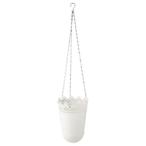 SKURAR hanging planter in/outdoor/off-white 20 cm 14 cm 12 cm 3 kg 12 cm