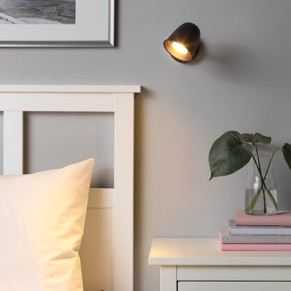 SKURUP Wall lamp, wired-in installation, black
