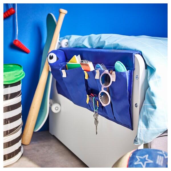 SLÄKT هيكل سرير بتخزين+قاعدة شرائحية, أبيض, 90x200 سم