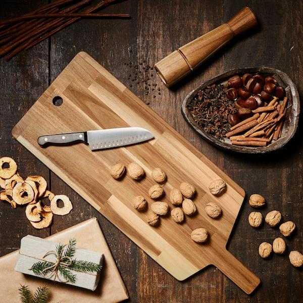 SMÅÄTA Chopping board, acacia, 72x28 cm