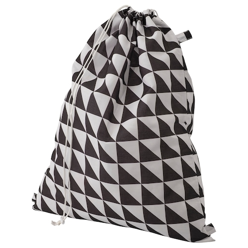 SNAJDA laundry bag black/white 60 l
