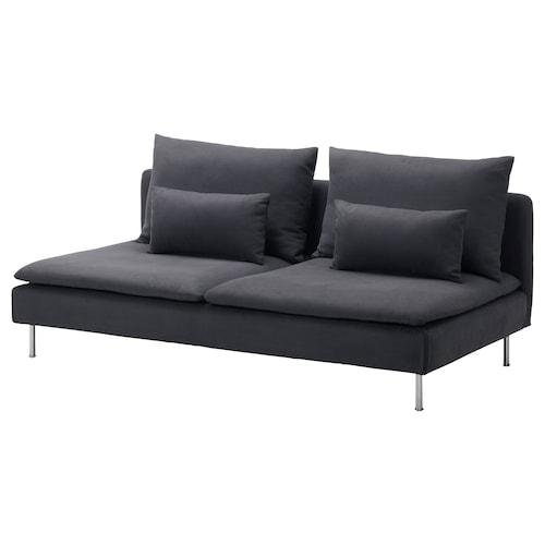 SÖDERHAMN 3-seat section Samsta dark grey 186 cm 99 cm 83 cm 186 cm 48 cm 40 cm