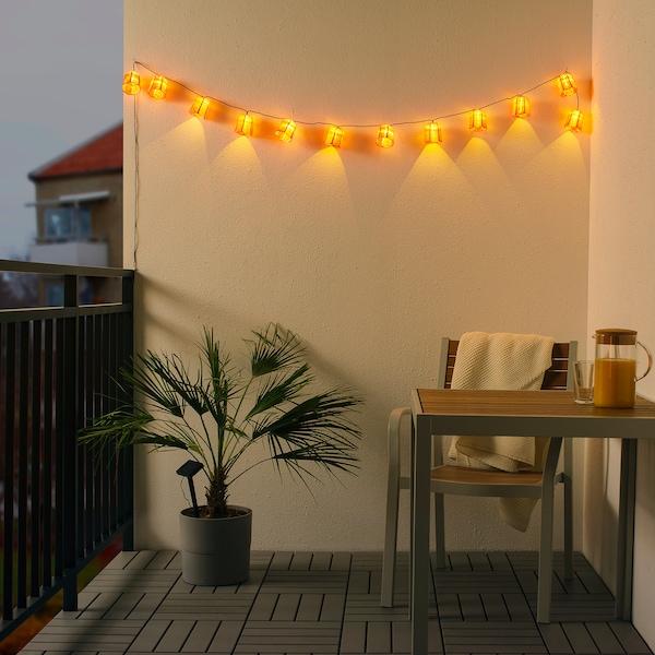 SOLVINDEN سلاسل إضاءة LED مع 12 لمبة, خارجي طاقة شمسية/زهرة التوليب زهري