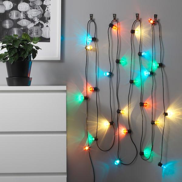 SOLVINDEN شريط إضاءة LED مع 24 لمبة, خارجي/عدة ألوان