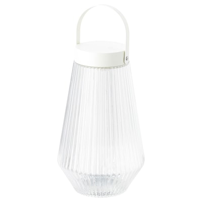 SOLVINDEN LED lighting, outdoor/battery-operated clear glass, 24 cm