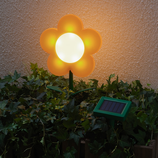 SOLVINDEN LED solar-powered ground stick, outdoor/flower yellow