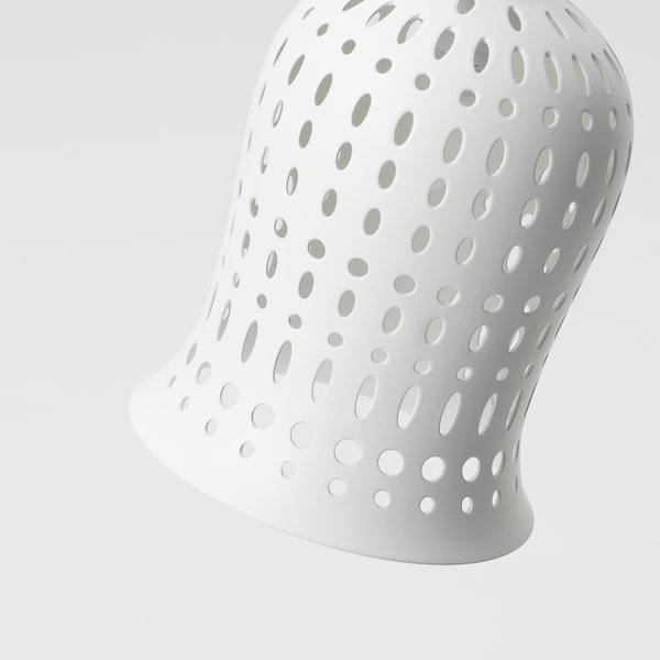 SOLVINDEN مصباح أرضي طاقة شمسية LED, خارجي/زهرة اللبن أبيض