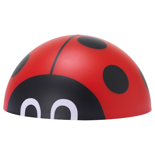 SOLVINDEN LED solar-powered lighting outdoor/half globe ladybird 9 cm 18 cm