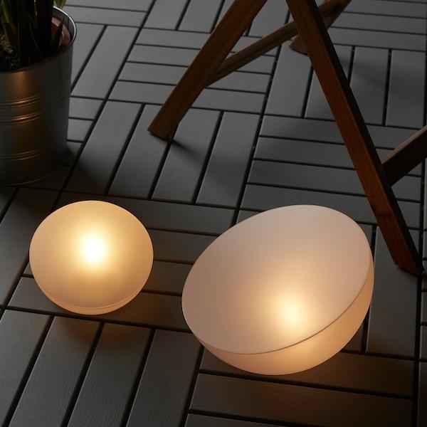 SOLVINDEN إضاءة طاقة شمسية LED, خارجي/نصف الكرة الأرضية أبيض, 27 سم