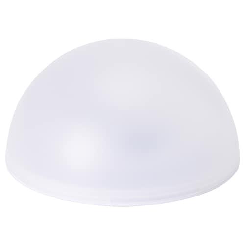SOLVINDEN LED solar-powered lighting outdoor/half globe white 9 cm 18 cm