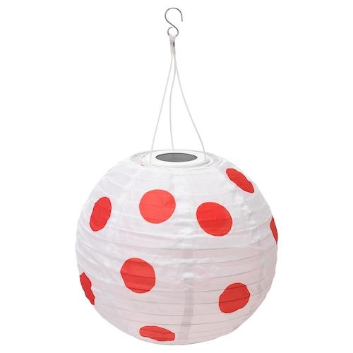 SOLVINDEN LED solar-powered pendant lamp outdoor globe/spotted red 30 cm 26 cm 26 cm