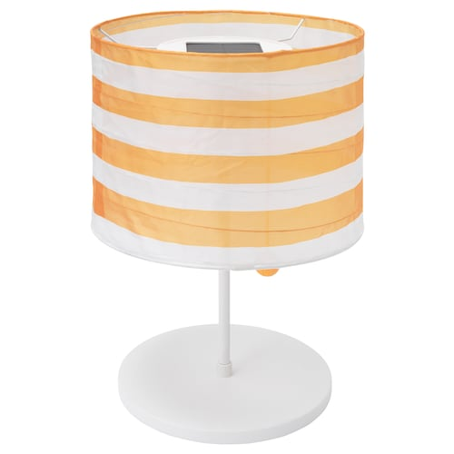 SOLVINDEN LED solar-powered table lamp outdoor/striped yellow/white 45 cm 30 cm 23 cm 1 pieces