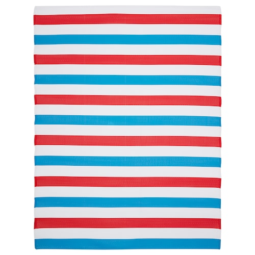 SOMMAR 2019 rug, flatwoven in/outdoor blue/white/red 240 cm 180 cm 4.32 m² 415 g/m²