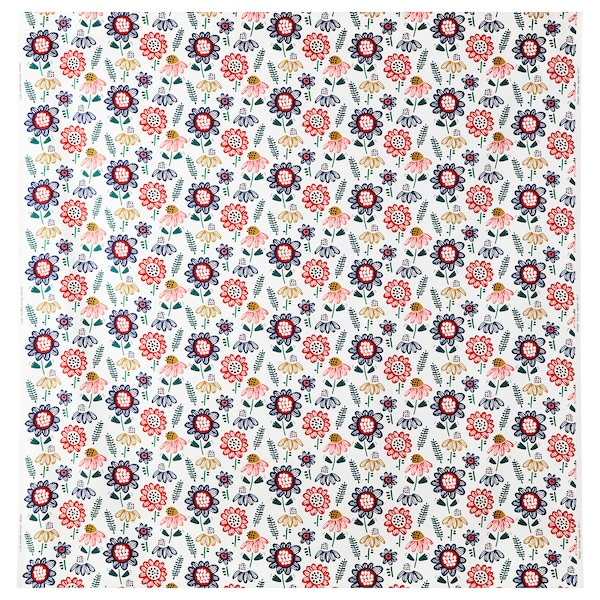 SOMMARASTER fabric white/multicolour 230 g/m² 150 cm 1.50 m²