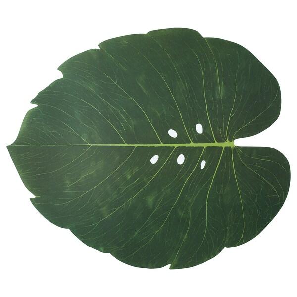 SOMMARLIV Place mat, leaf, 43x37 cm
