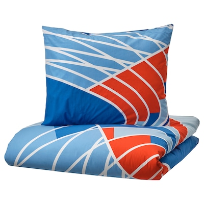 SPORTSLIG Quilt cover and pillowcase, running track, 150x200/50x80 cm