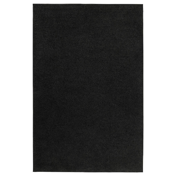 SPORUP Rug, low pile, black, 200x300 cm
