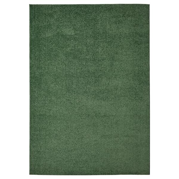 SPORUP Rug, low pile, dark green, 170x240 cm