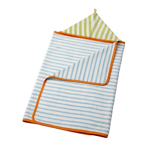 STÄNKA Baby towel with hood   Cotton is soft against your baby's skin and highly water absorbent.